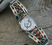 Watch Band Native American Multi-Stone Inlay
