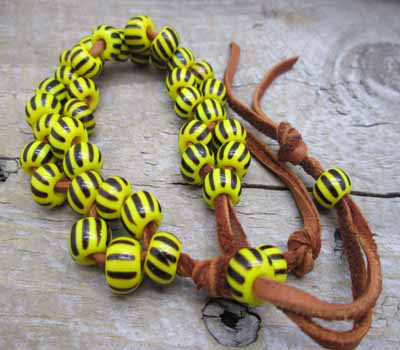 Trade Bead Bracelet African Yellow Jacket