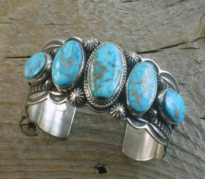 Valley Blue Turquoise Native American Cuff Bracelet
