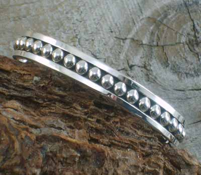 Artie Yellowhorse Sterling Cuff Bracelet