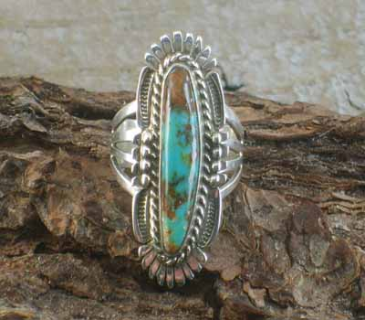 Native American Turquoise Ring- sz 7 3/4