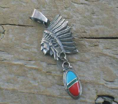 Indian Chief Pendant-1