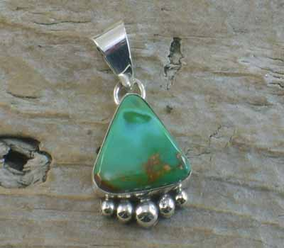 Native American Turquoise Nugget Pendant M
