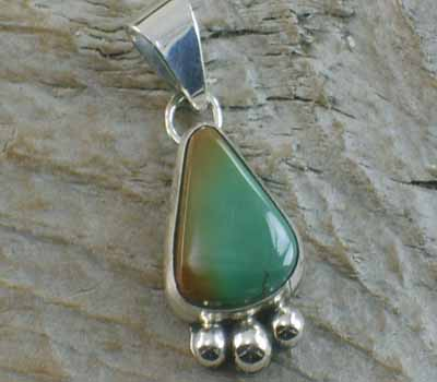 Native American Turquoise Nugget Pendant J