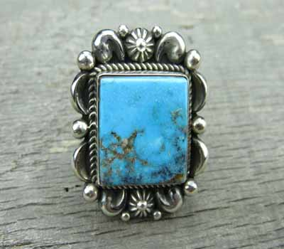 Native American Kingman Turquoise Ring - Albert Jake