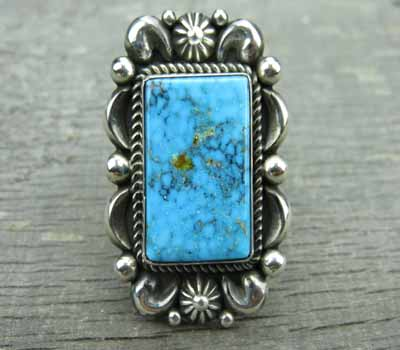 Native American Ring Albert Jake Kingman Turquoise