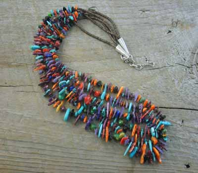 Native American Santo Domingo Mulit-Color Necklace