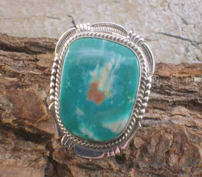 Native American Fox Ring- sz 9.75