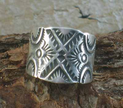 Native American Sterling Band - sz 10
