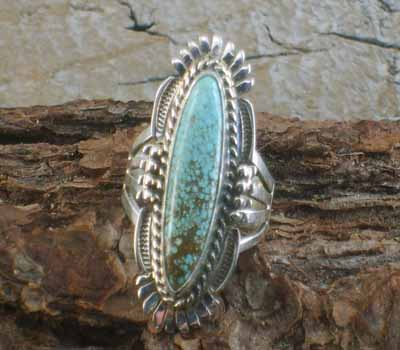 Bennie Ration Jewelry Turquoise Ring- sz 7.75