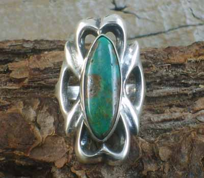 Native American Turquoise Ring- sz 8