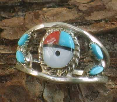 Native American Zuni Sunface Ring- sz 4.75