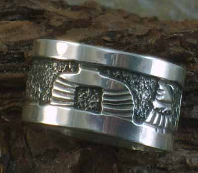 Native American Story Teller Ring- sz7.75
