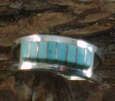 Turquoise Native American Ring- sz 5