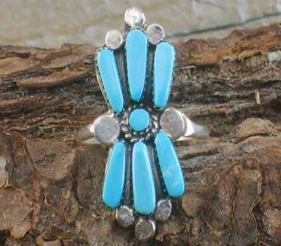 Native American Turquoise Ring- sz 6.75