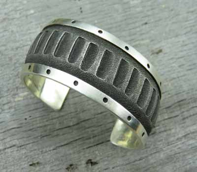 Navajo Sterling Cuff Bracelet - Dakota Willie