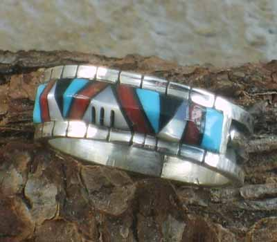 Native American Inlay Band- sz 13