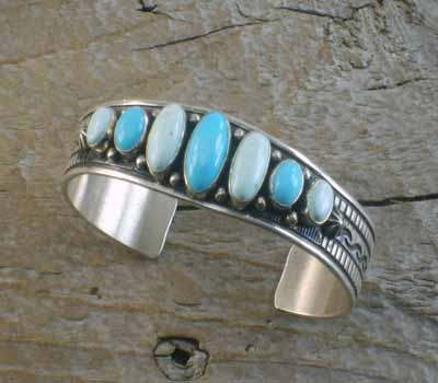 Derrick Gordon Dry Creek &Sleeping Beauty Turquoise Bracelet