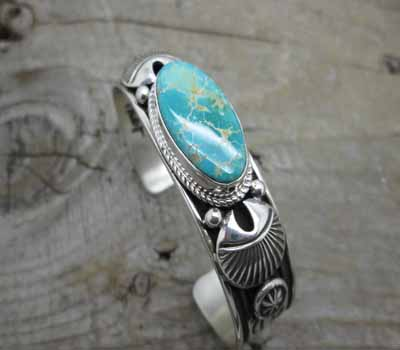 American Indian Cuff Bracelet Pilot Mtn Turquoise