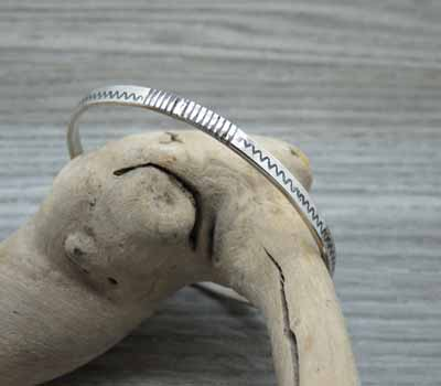 Sterling Bangle Bracelet American Indian 7