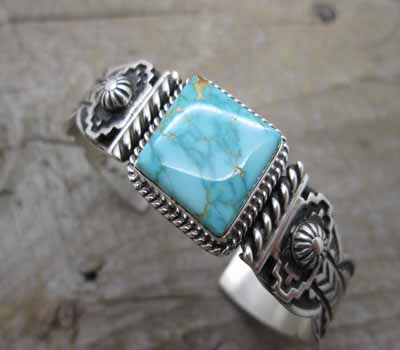 American Turquoise Cuff Bracelet Pilot Mountain