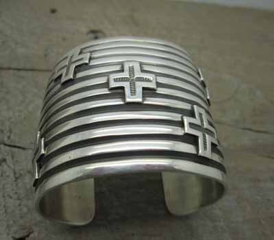 American Indian Andy Cadman Cuff Bracelet Cross