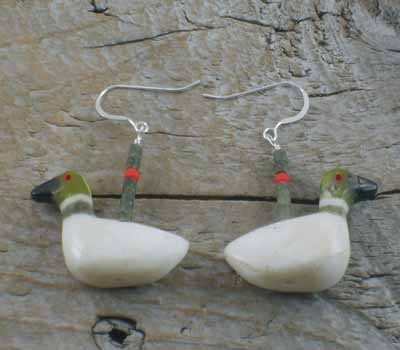 Earrings Southwest Jewelry Carved Loons B