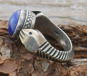 Ring Lapis & Sterling Asp - sz 8 1/2