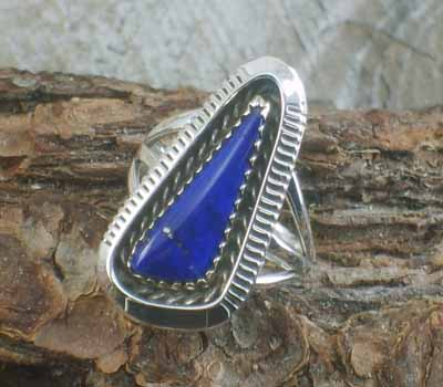 Artie Yellowhorse Lapis Ring -sz 6.75