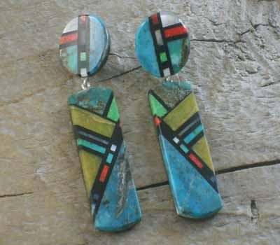 Native American Earrings - Chris Nieto Inlay