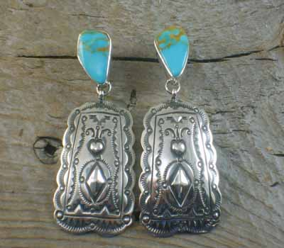 American Indian Earrings - Darryl Becenti Kingman