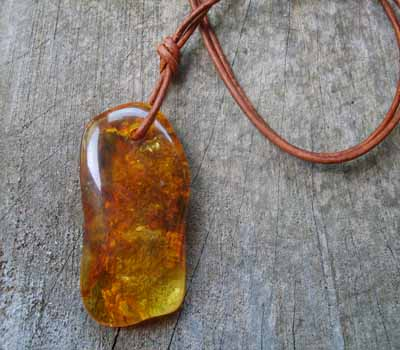 Baltic Amber Dangle Pendant A