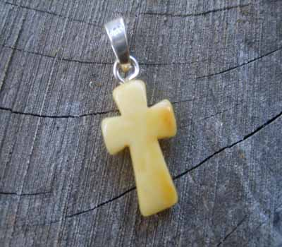 Baltic Amber Dangle Cross Pendant 3