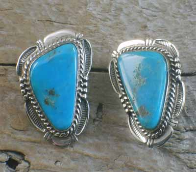 American Indian Earrings Richly Blue