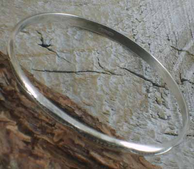 Native American Silver Bangle Bracelet 16