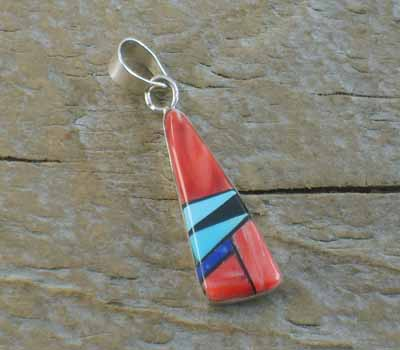 American Indian Inlay Pendant