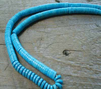 Indian Santo Domingo Necklace Turquoise Heishi