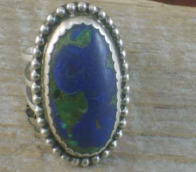 Native American Azurite Ring