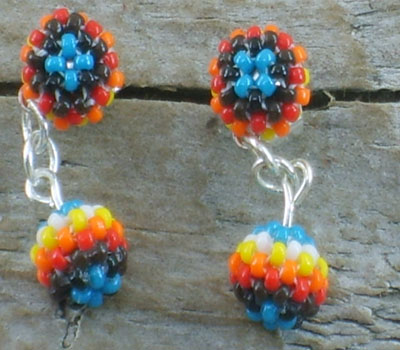 Beaded Earrings - Native American A