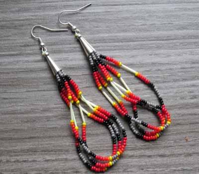 Earrings Native American Beaded Loop 2