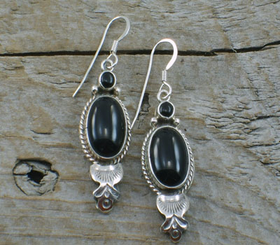 Native American Earrings Onyx