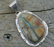 American Indian Pendant Boulder Turquoise
