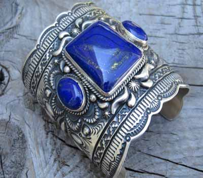 Lapis Bracelet -Native American -Gem!