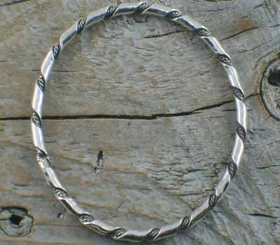 Native American Silver Bangle Bracelet 1