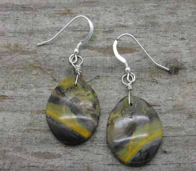 Bumble Jasper Slab Earrings