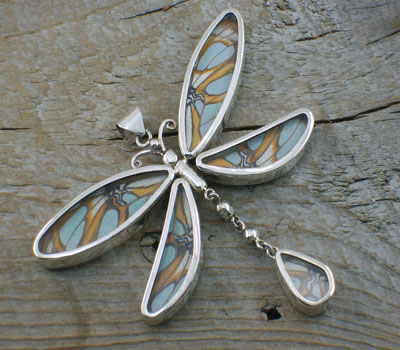 Real Butterfly Pendant - Dual Sided