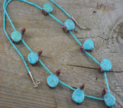 SouthWest Jewelry Turquoise & Pipestone Turtle Necklace