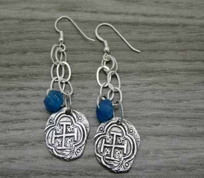 Roman Cross Sterling Earrings