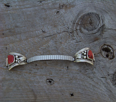 Watchband Native American Oxblood Coral