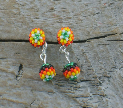 Beaded Earrings - Native American D